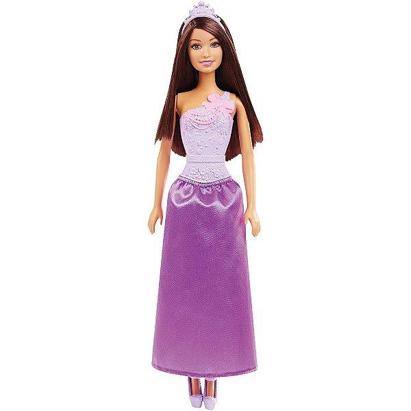 Boneca Barbie Princesa Básica - Morena - Mattel