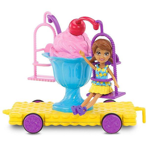 Polly Pocket Carnaval - Carrinho de Sundae - Shani - Mattel