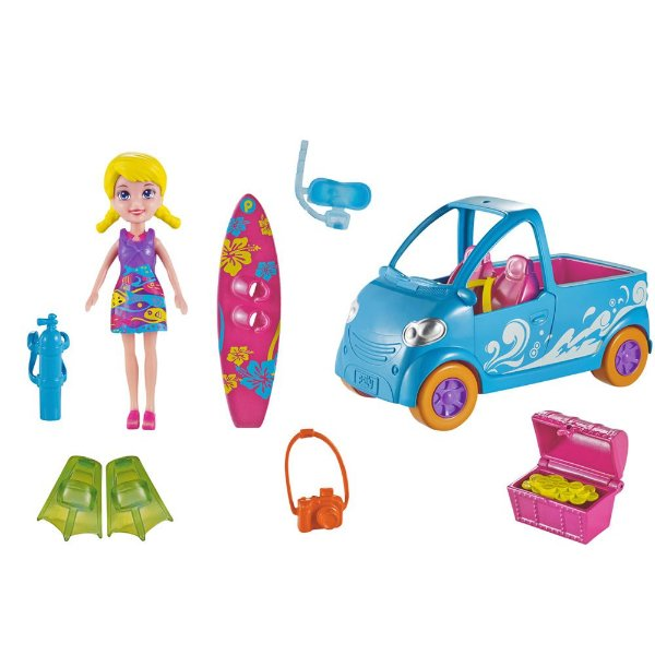 Polly Pocket Veículo - Van de Surf - Mattel