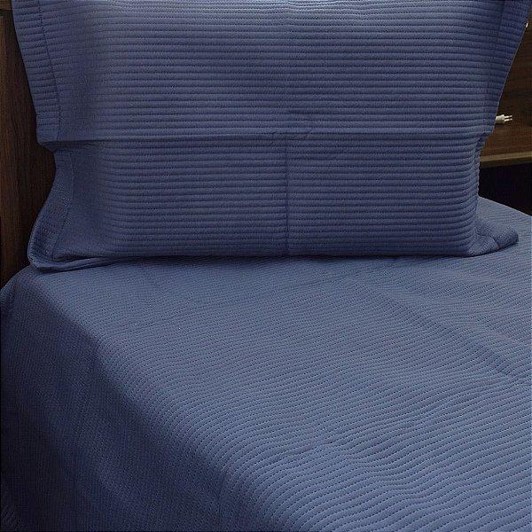 Kit Cobre Leito Neomalha Solteiro - Azul Cobalto - Hedrons
