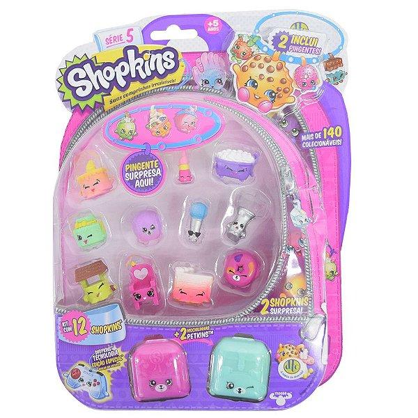 Shopkins Blister Kit 2 com 12 Personagens - Série 5 - DTC