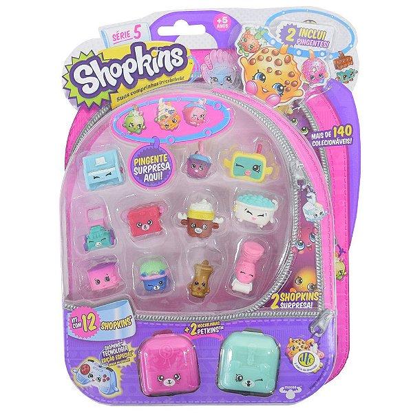 Shopkins Blister Kit 3 com 12 Personagens - Série 5 - DTC