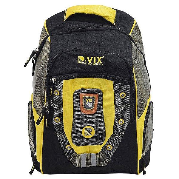 Mochila Para Notebook Fashion - Preto e Amarelo - Republic Vix