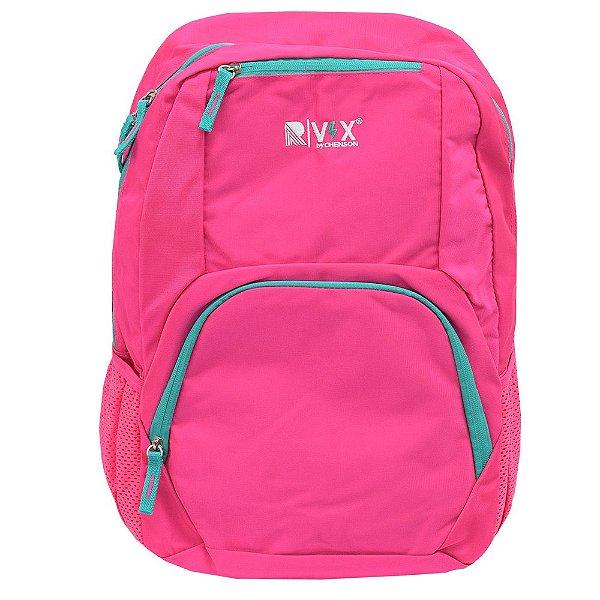 Mochila Para Notebook Básica - Rosa Neon e Verde - Republic Vix