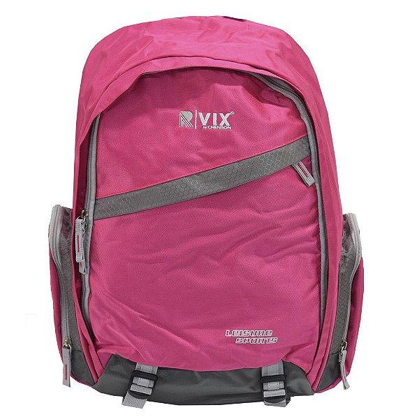 Mochila Para Notebook Confort - Rosa e Cinza - Republic Vix