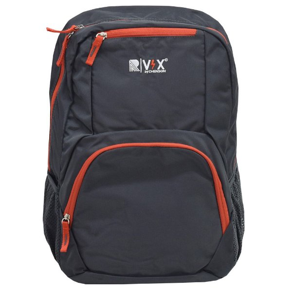 Mochila Para Notebook Básica - Cinza e Laranja - Republic Vix