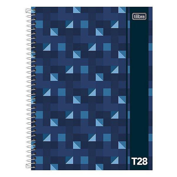 Caderno T28 Decorado - 1 Matéria - Azul - Tilibra