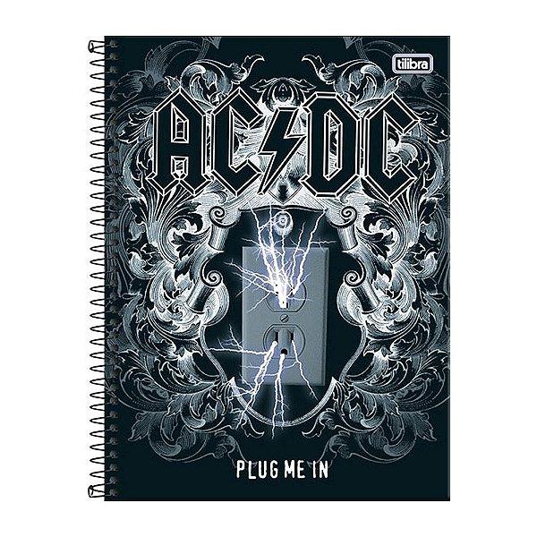 Caderno AC/DC Plug Me In - 1 Matéria - Tilibra