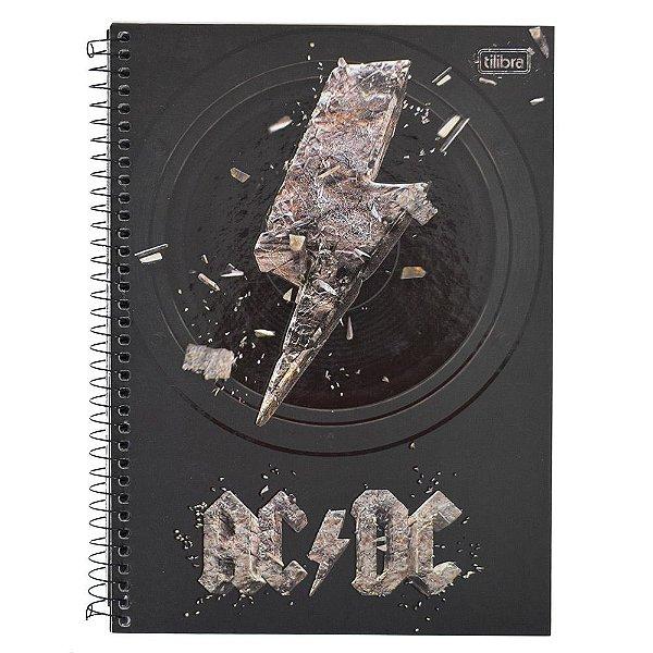 Caderno AC/DC Raio - 1 Matéria - Tilibra
