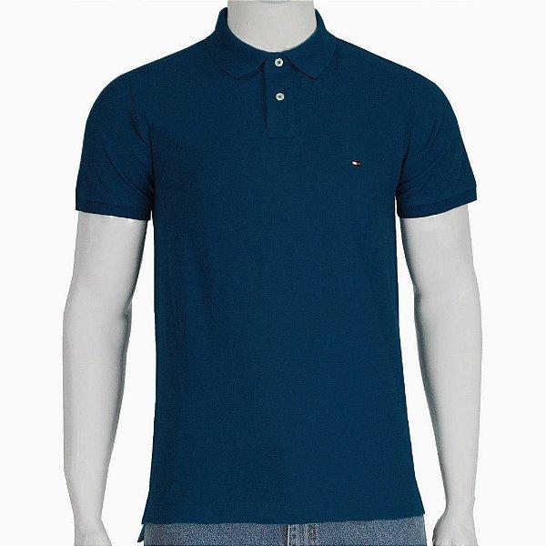 Camisa Polo Slim Fit - Marinho - Tommy Hilfiger