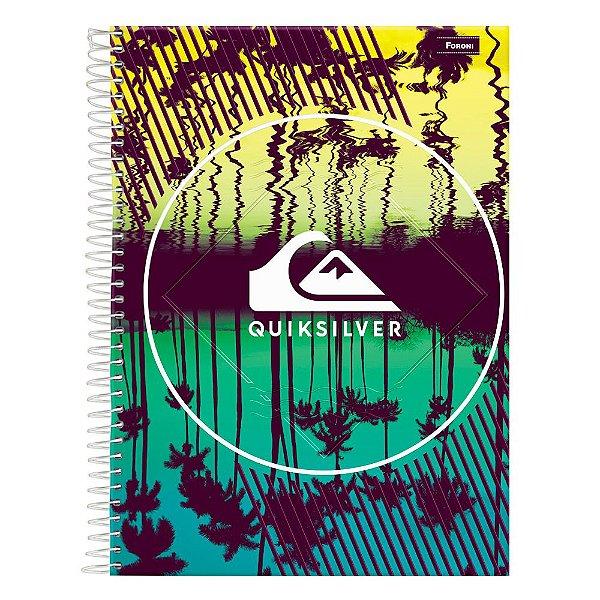 Caderno Quiksilver - Verde - 1 Matéria - Foroni