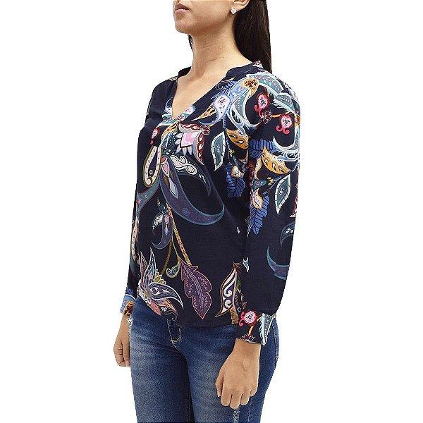 Bata Elegance - Marinho - Flores Decoradas - Beagle