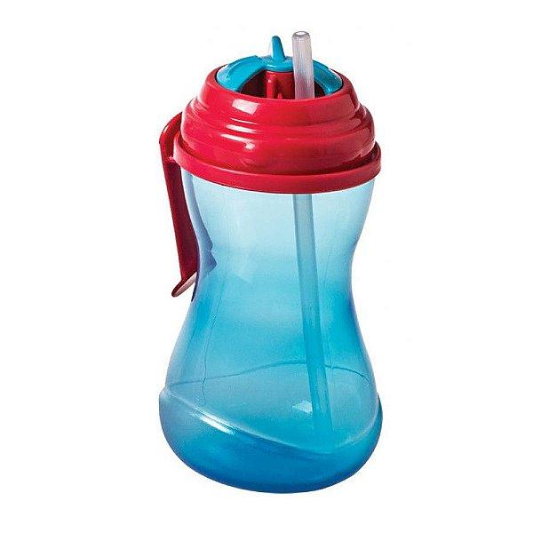 Copo Com Canudo e Clip 400ml - Azul e Vermelho - Girotondo Baby