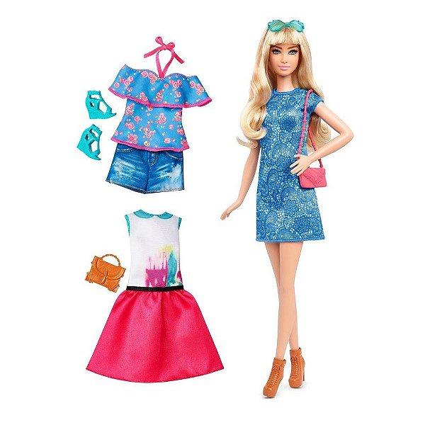Barbie Fashionista Com Acessórios - Lacey Blue Tall - Mattel