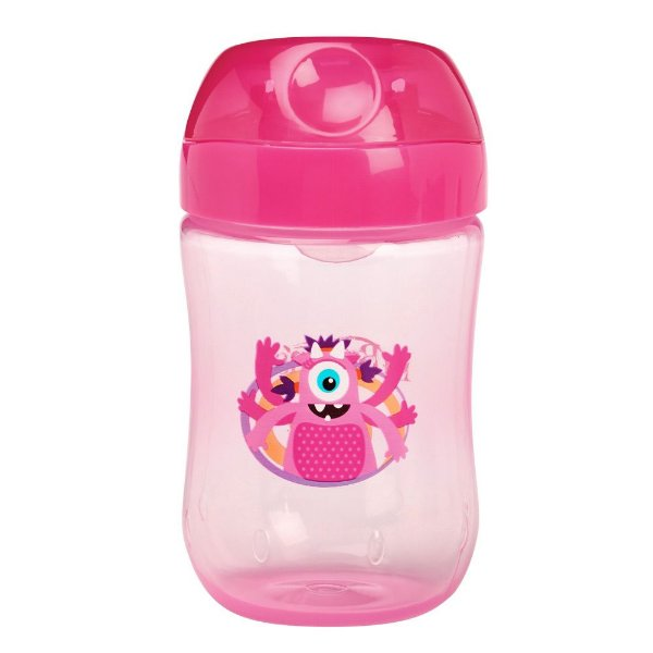 Copo Infantil Monstrinhos 270ml - Rosa - Dr Brown's