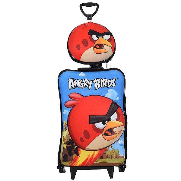 Kit Mochila Infantil 3D + Lancheira - Angry Birds Red - Diplomata