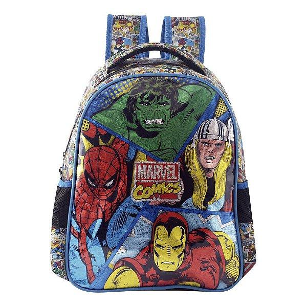 "Mochila Infantil Marvel Comics Detalhada 16"" - Xeryus"