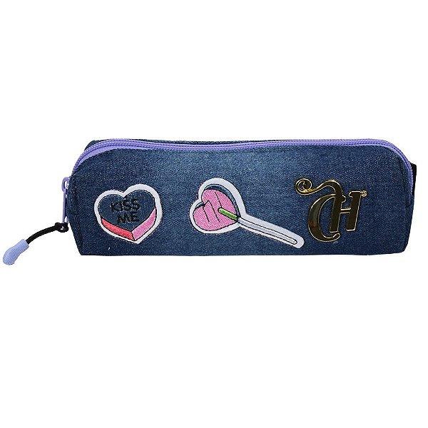 Estojo Capricho Kiss Me - Jeans - 1 Divisória - DMW
