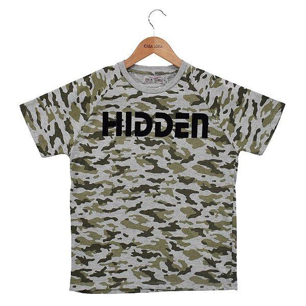 Camiseta Infantil Masculina Hidden Camuflada - Fakini