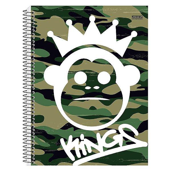 Caderno Kings - Camuflado - 10 Matérias - São Domingos