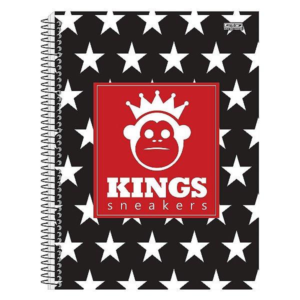 Caderno Kings Sneakers - Estrelas - 1 Matéria - São Domingos