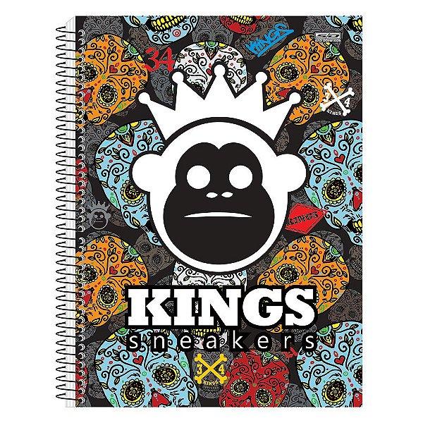 Caderno Kings Sneakers - Caveiras Mexicanas - 1 Matéria