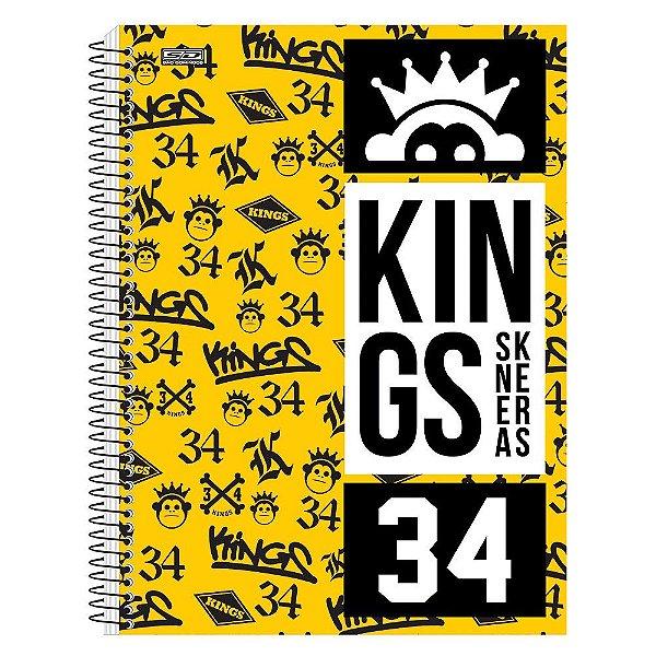 Caderno Kings Sneakers Amarelo - 1 Matéria - São Domingos