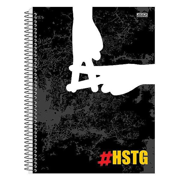 Caderno Hashtag Preto - 1 Matéria - São Domingos