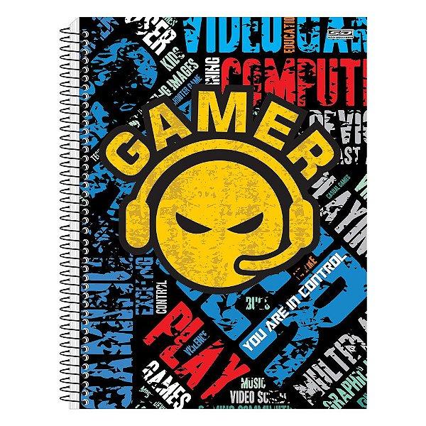 Caderno Gamer - Emojis - 1 matéria - São Domingos