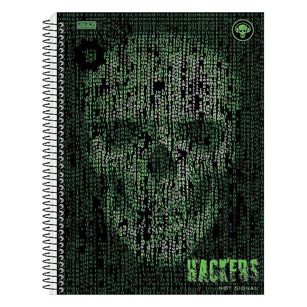 Caderno Hackers - Caveira Binária - 1 Matéria - São Domingos