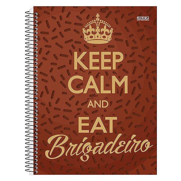 Caderno Keep Calm and Eat Brigadeiro - 1 matéria - São Domingos