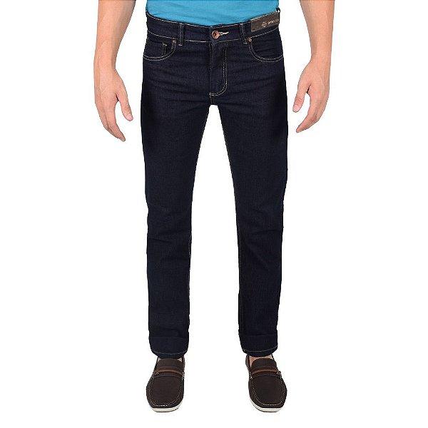 Calça Jeans Masculina - Azul Petróleo - Over Black