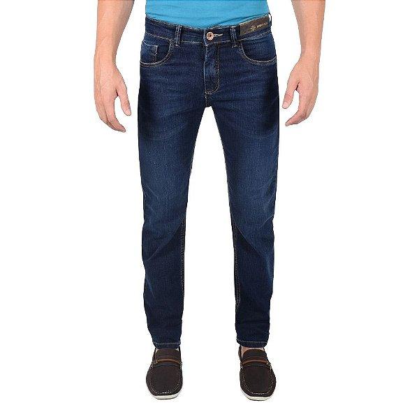 Calça Jeans Masculina - Azul Escuro - Over Black