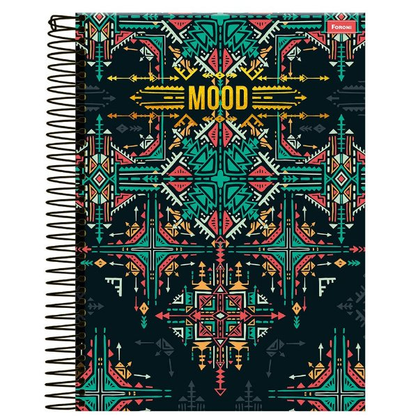 Caderno Mood - Preto - 1 Matéria - Foroni