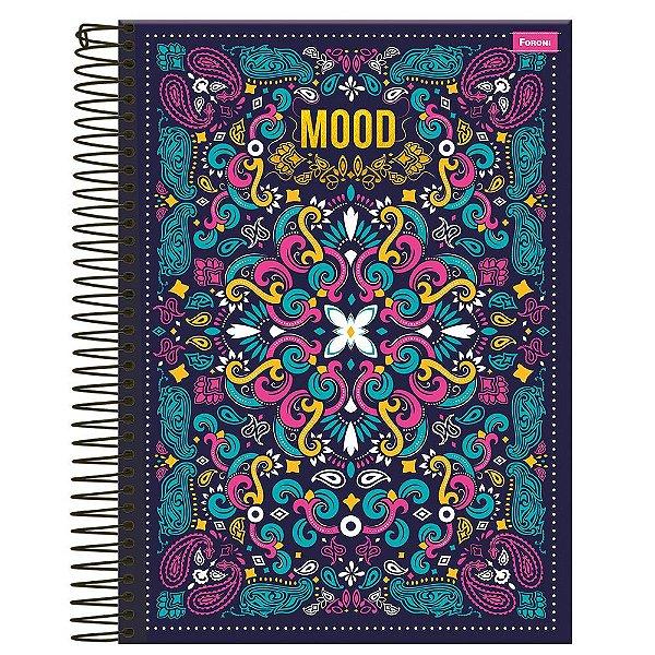 Caderno Mood - Azul Marinho - 10 Matérias - Foroni