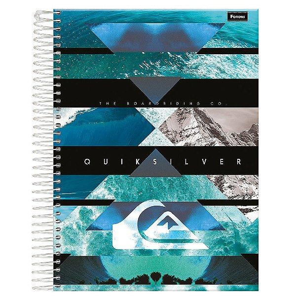 Caderno Quiksilver - Mar e Montanhas - 10 Matérias - Foroni