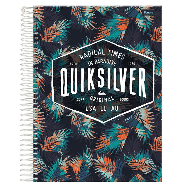 Caderno Quiksilver - Radical Times In Paradise - 10 Matérias