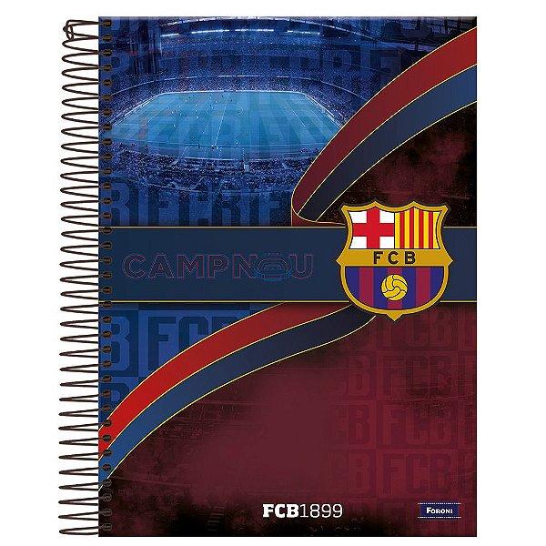 Caderno Barcelona - Camp Nou - 10 Matérias - Foroni