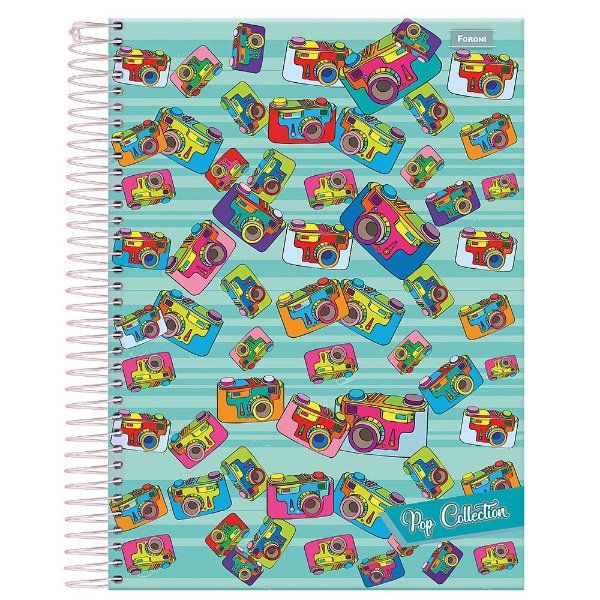 Caderno Pop Collection - Câmeras - 10 Matérias - Foroni