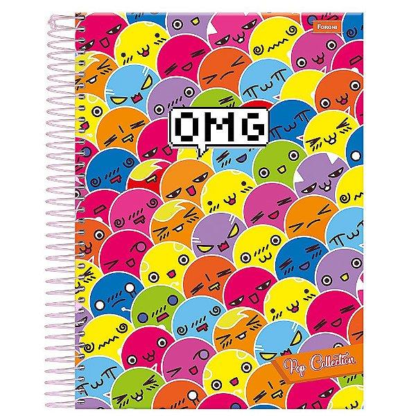 Caderno Pop Collection - OMG - 1 Matéria - Foroni