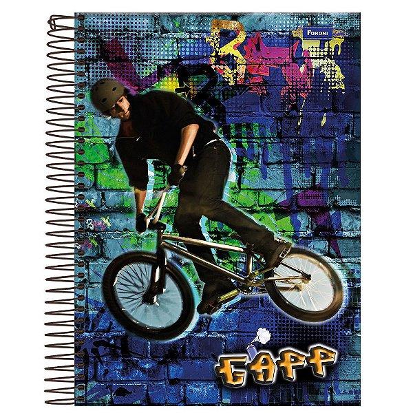 Caderno Gapp - Bicicleta - 1 Matéria - Foroni