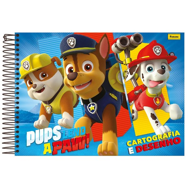 Caderno de Desenho Milimetrado - Patrulha Canina - Foroni