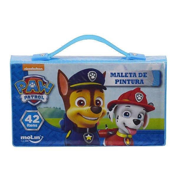 Maleta de Pintura Infantil - Patrulha Canina - Azul - 42 Itens - Molin
