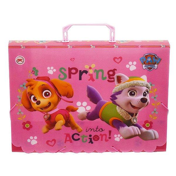 Maleta Ofício Infantil - Patrulha Canina - Rosa - DAC
