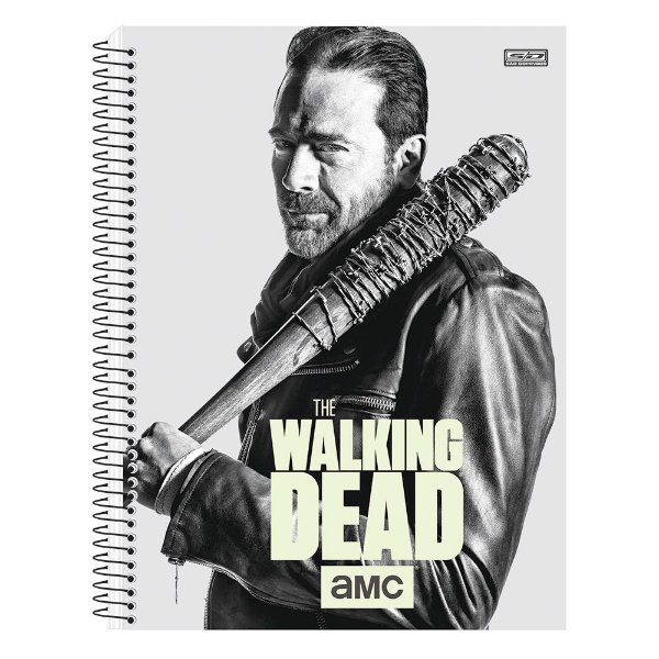 Caderno The Walking Dead - Negan - Brilha no Escuro - 10 matérias