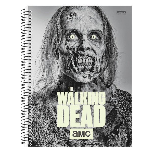 Caderno The Walking Dead - Zumbi - Brilha no Escuro - 10 matérias