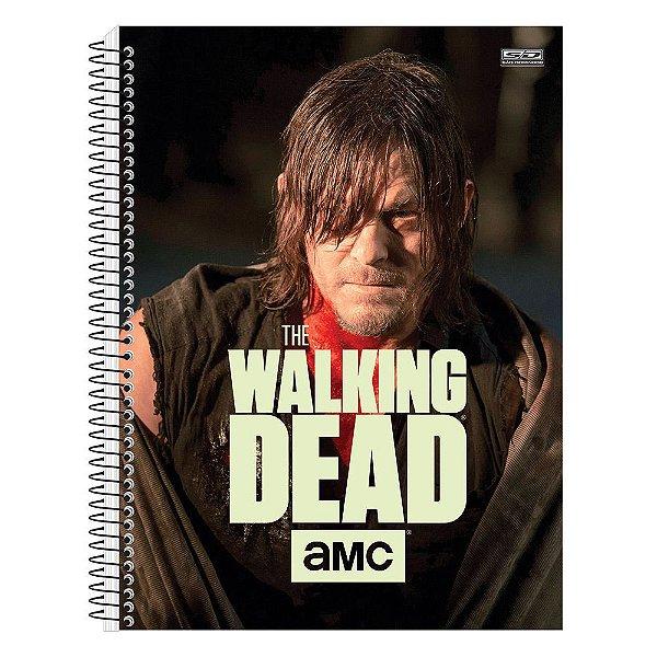 Caderno The Walking Dead - Daryl - Brilha no Escuro - 10 matérias