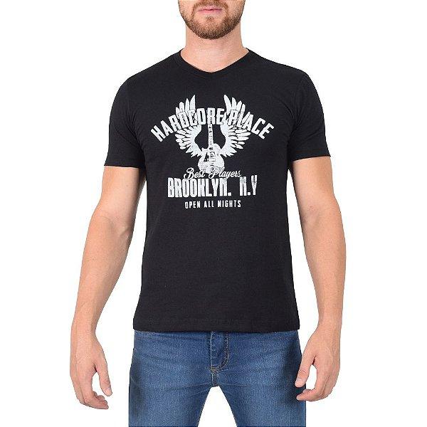Camiseta Masculina - Preta - World Extreme