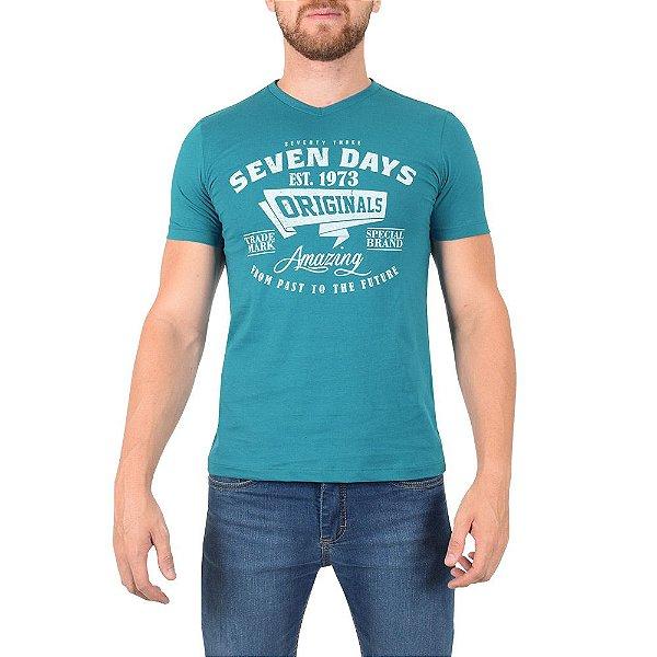 Camiseta Masculina - Azul  - World Extreme
