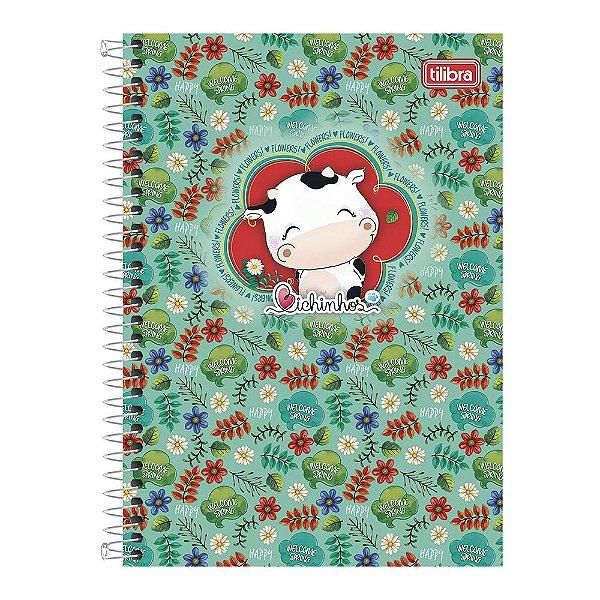 Caderno Bichinhos - Vaquinha Primavera - 10 Matérias - Tilibra